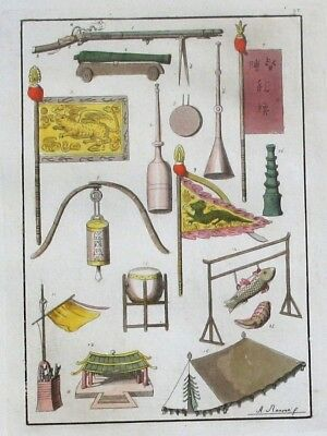 1825 - China Gegenstände Original Aquatinta aquatint antique print