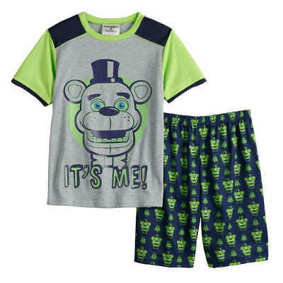Five Nights At Freddys Glow In The Dark Pajamas Size 6 8 10 New!