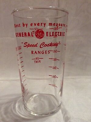 Vintage General Electric Speed Cooking Ranges Federal Glass Measuring Cup