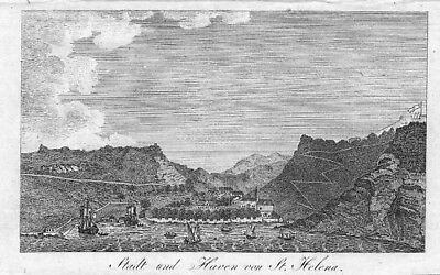1800 - St. Helena Jamestown East Indres engraving