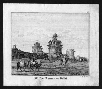 1830 - Delhi India Indien Lithographie Lithograph