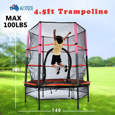 NEW Kids Trampoline Indoor Outdoor Junior with Enclosure and Safety Net 4.5ft