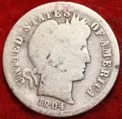 1904-S San Francisco Mint Silver Barber Dime