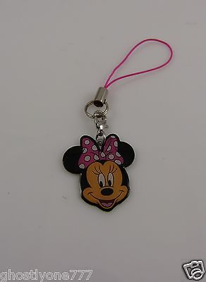 Minnie Mouse head cell phone charm Disney cute pink black