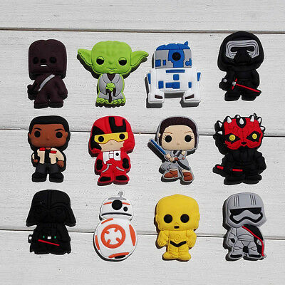 12pcs/lot Star Wars PVC Shoe Charms for Croc & Jibbitz Bracelets Xmas Party Gift