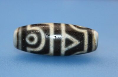 39*15 mm Antique Dzi Agate old 4 eyes Bead from Tibet **Free shipping**