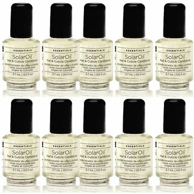 10 x CND Mini Solar Oil Nail & Cuticle Conditioner 3.7 ml Bottle POCKET SIZE