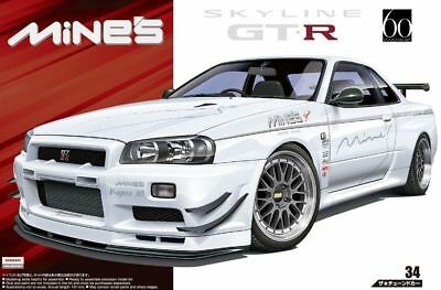 Aoshima 1/24 Scale The Tuned Car Model Kit Mine's Nissan Skyline GT-R R34 BNR34