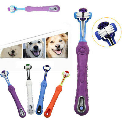 Three Sided Pet Cleaning Brush Dog ToothBrush Dog Cat Cleaning Teeth Care