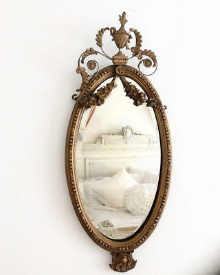 ~*Stunning Antique French Rococo/Baroque Gilt Wall Mirror*~