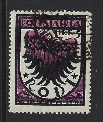 DODECANESE ISLANDS :1934 Air 5l black and magenta SG127 used