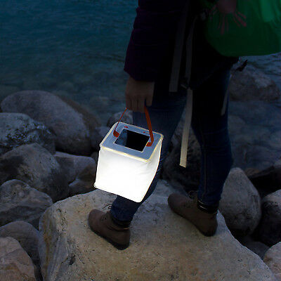 UK @ Collapsible Inflatable Solar Powered Inflatable LED Light Camping Survival