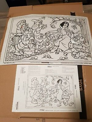 Vintage Hobbytex Pre-shaded Picture #7762 Snow White Placemat USED POST 2