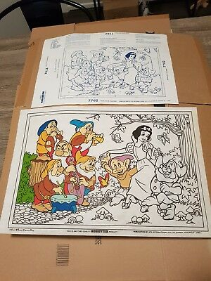 Vintage Hobbytex Pre-shaded Picture #7762 Snow White Placemat USED POST 1