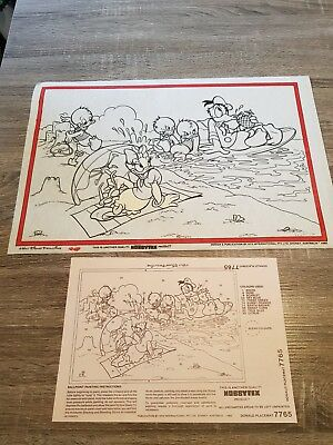 Vintage Hobbytex Pre-shaded Picture #7765 Donald Placemat USED