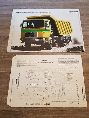 Vintage Hobbytex Pre-shaded Picture #4404 M.A.N. Jumbo Truck USED