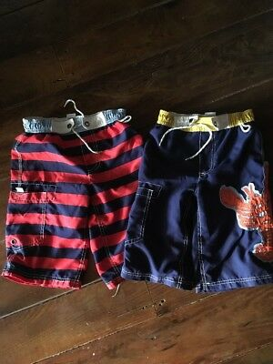 Boys Mini Boden Swim Board Short, Sz 6-7