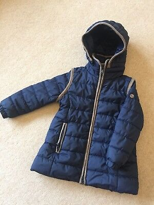 Stunning Girls Poivre Blanc Winter Navy Padded Jacket, Age 2