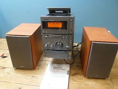 Sony CP505MD Compact Hi-Fi System with MD Player WORKING
