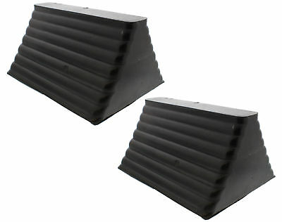 (Closeout) ABN 9085 Rubber Wheel Chocks (2) w/ Eyebolt for Trucks Boats Campers