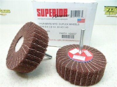 "New Box Of 5 Superior Abrasive Shur-Brite Duplex Wheels 3"" X 1"" X 1/4"""