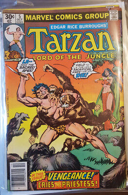 TARZAN - LORD OF THE JUNGLE # 5 to # 9, ( 1977 / 78 / MARVEL COMICS / FN- / VG+)