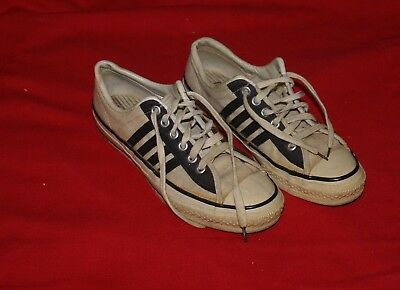 Vintage 1960's CONVERSE Black Label Tennis Sports Shoes 10.5  USA