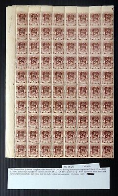 BURMA 1947 G.VI Sheet of 320 Showing OPT Errors & Varieties As Described NF754