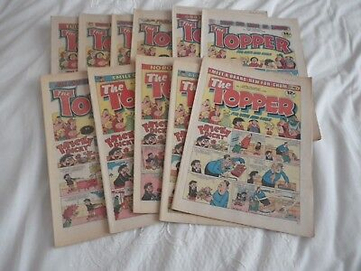 The Topper comics x 11 issues from 1982 to 1984