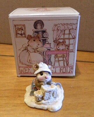 Wee Forest Folk WFF M-76 Beach Mousey Summer Sand Castle Figurine in Box LOOK