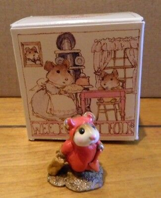Wee Forest Folk WFF M-61 Little Devil Mouse Figurine in Box LOOK