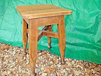 """Vintage Rustic Antique Wooden Stool  18"""" High"""