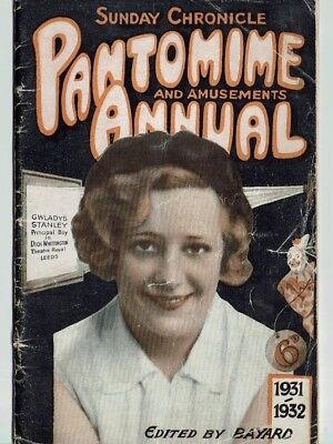 Pantomime and amusement Annual 1931 - 1932 Will Fyffe Georgie Wood Anne Croft