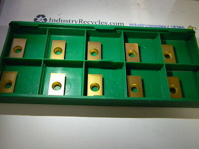 New Box of 10 LoveJoy RECH-53-10F Grade 586XRM Carbide Inserts