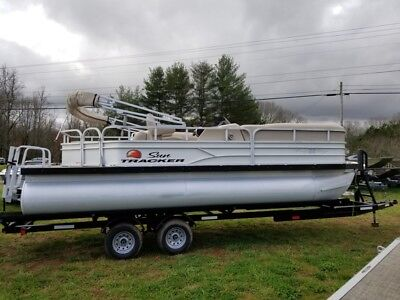 2016 Sun Tracker PARTY BARGE® 22 DLX Pontoon Powered by 60hp Mercury 4 stroke