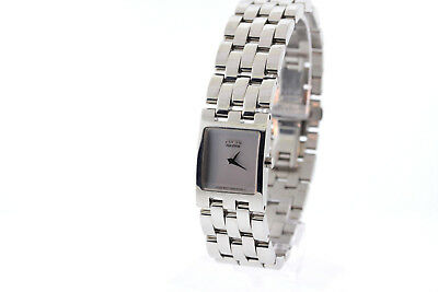 Ladies Citizen EX1300-51A Jolie Eco-Drive Stainless Silver-tone Dial Date Watch
