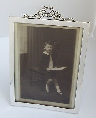 Lovely Genuine English Antique Edwardian 1905 Solid Sterling Silver Photo Frame