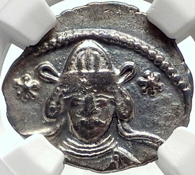 MEHERDATES Parthian Usurper King 49AD RARE Ancient Silver Greek Coin NGC i68924