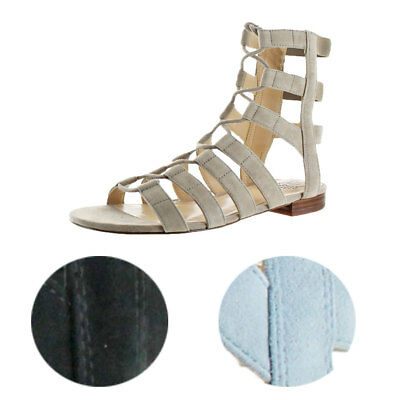 ed37115da77 Vince Camuto Helayn Women s Suede Open Toe Ghillie Caged Sandals Shoes