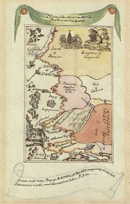 1840 Allegorical Map of the 'Matter of Money' and Matrimony