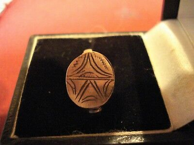 Ancient Roman / Byzantine Ring With 'star'--Detector Find