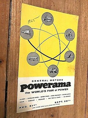 1955 General Motors Powerama Chicago  World's Fair Of Power Pamphlet