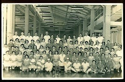 1956 Houston Texas photo NABISCO packing depart staff National Biscuit Co