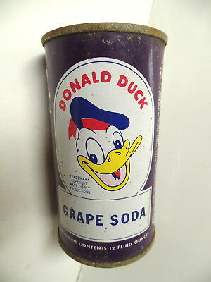 Donald Duck Grape Soda Flat Top Soda Pop Can General Chattanooga Tennessee