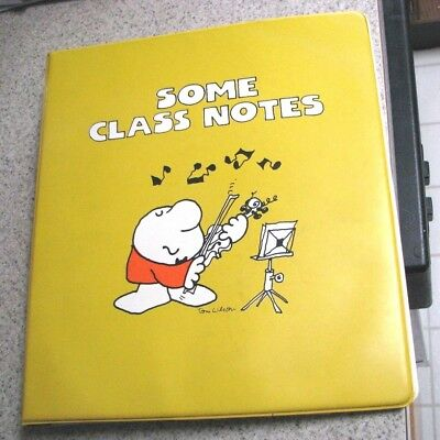 """Ziggy Notebook from American Greetings-Bright yellow-""""Some Class Notes""""1978"""