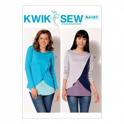 Free Uk Pp Kwik Sew Ladies Easy Sewing Pattern 4187 Tulip Overlay