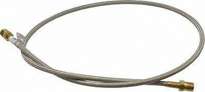 """Flexible Metal Hose Assembly 1/4"""" x  48"""" Male Pipe Brass 03318698"""