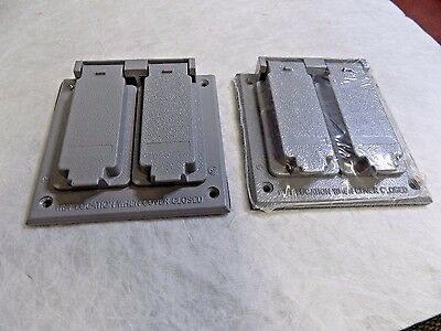 Cooper Crouse-Hinds TP7244 Electrical Outlet/Switch Box Wtherproof Alum Lot of 2