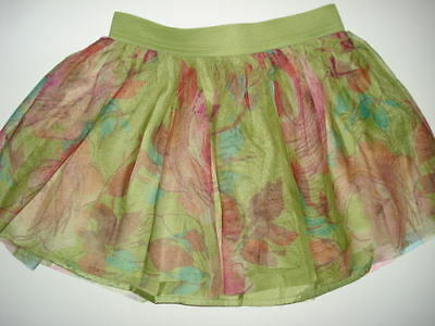 NWT GAP 6-7 I WANT CANDY Green Tulle Ruffle Skirt