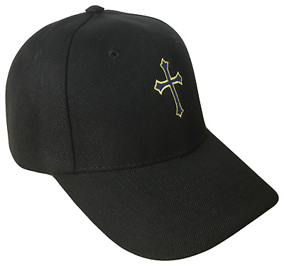 Black Christian Cross Religious Baseball Cap Caps Hat Hats God Jesus Purple  Gold 9eed56e59ae0